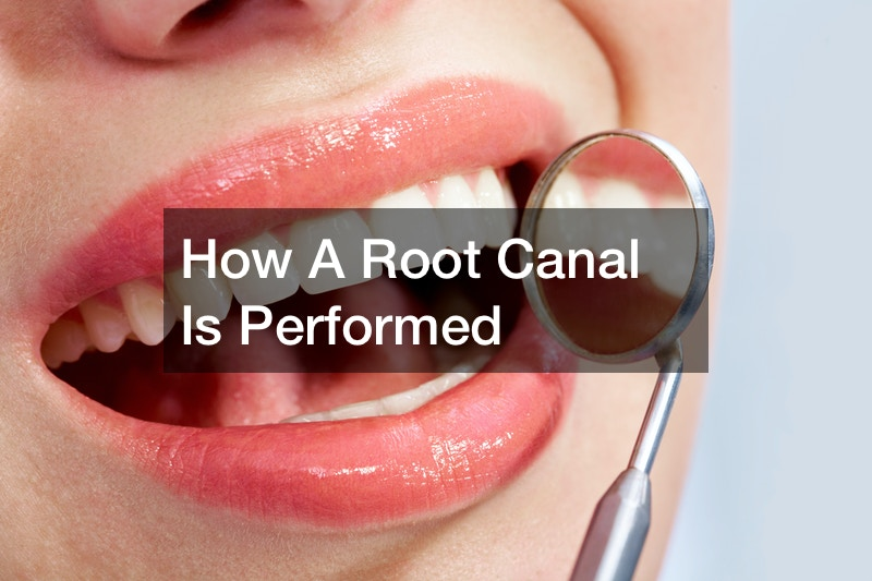 How a root canal is performed
